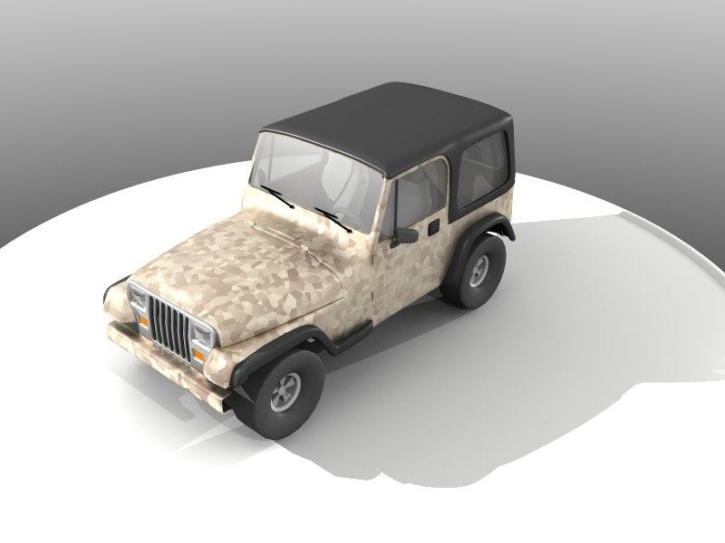 3d model jeep wrangler