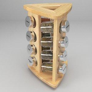 spice rack 3d 3ds