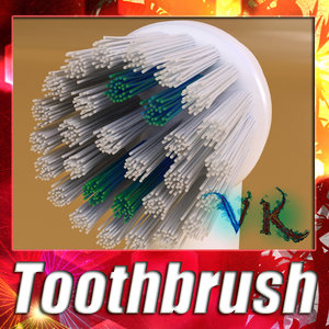 3dsmax electric toothbrush -