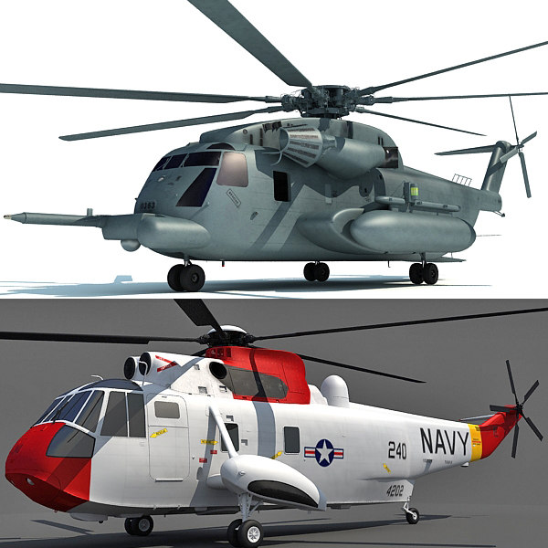 aircraft sikorsky sh-3 3d model