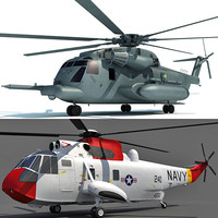 aircraft sikorsky sh-3 3d model