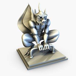 free obj mode gargoyle statue