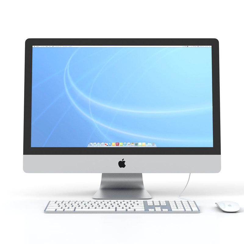 imac mouse keyboard 3d model