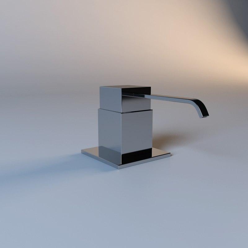 3d model modern liquid soap faucet