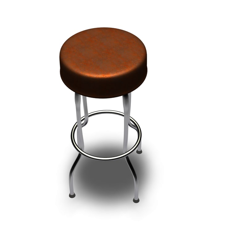 3d max bar stool
