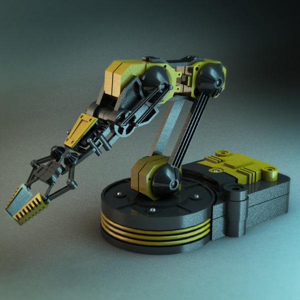 3ds max robot arm mechanical