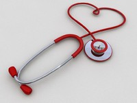 stethoscope heart 3d model