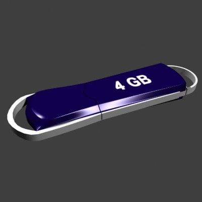 3d model of usb memory stick