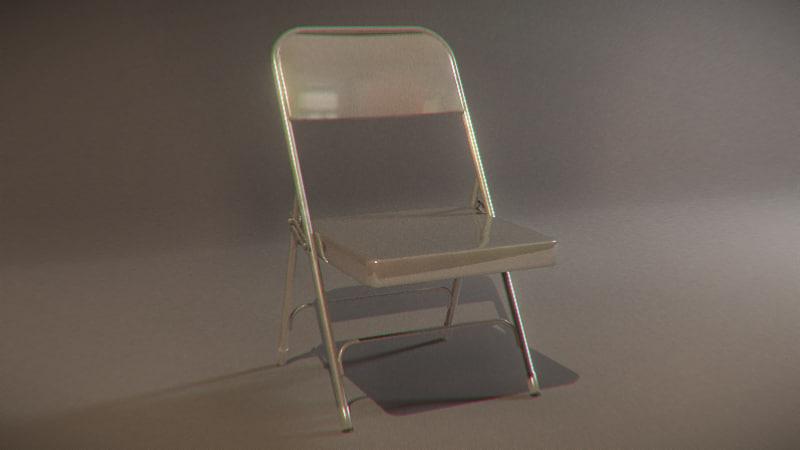 3d indestructible folding chair