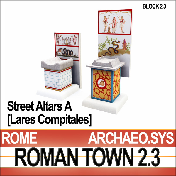 ancient roman town street 3d model