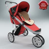 baby pram v2 3d model