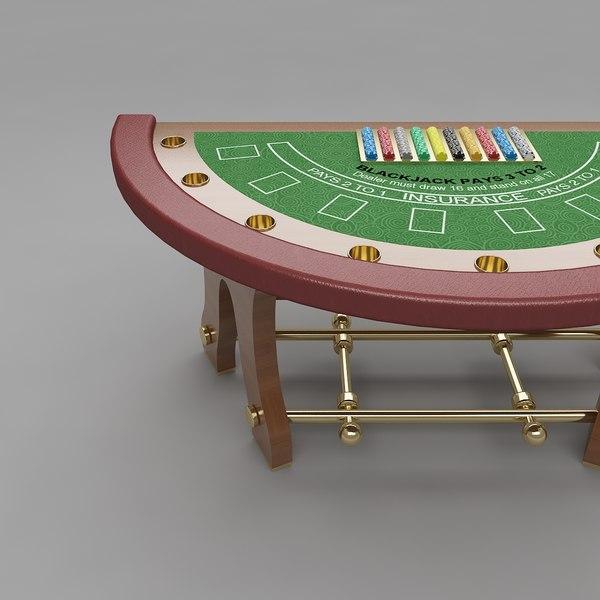 3d blackjack table 5 model