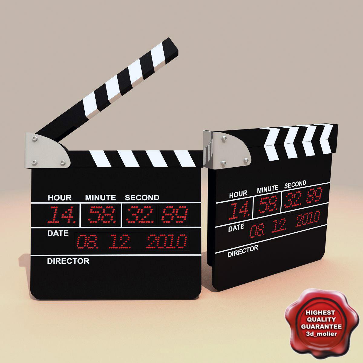 3d model of clapboard modelled
