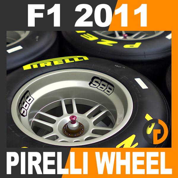 formula 1 2011 pirelli 3d model