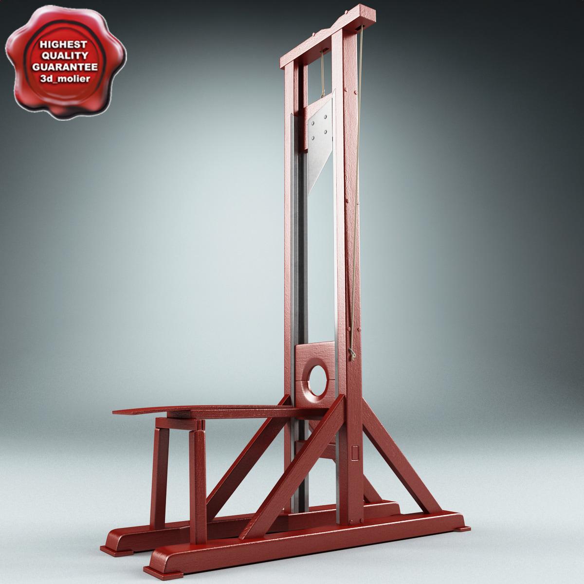 maya guillotine modelled