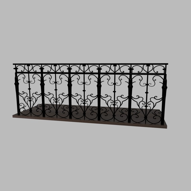 iron fences obj