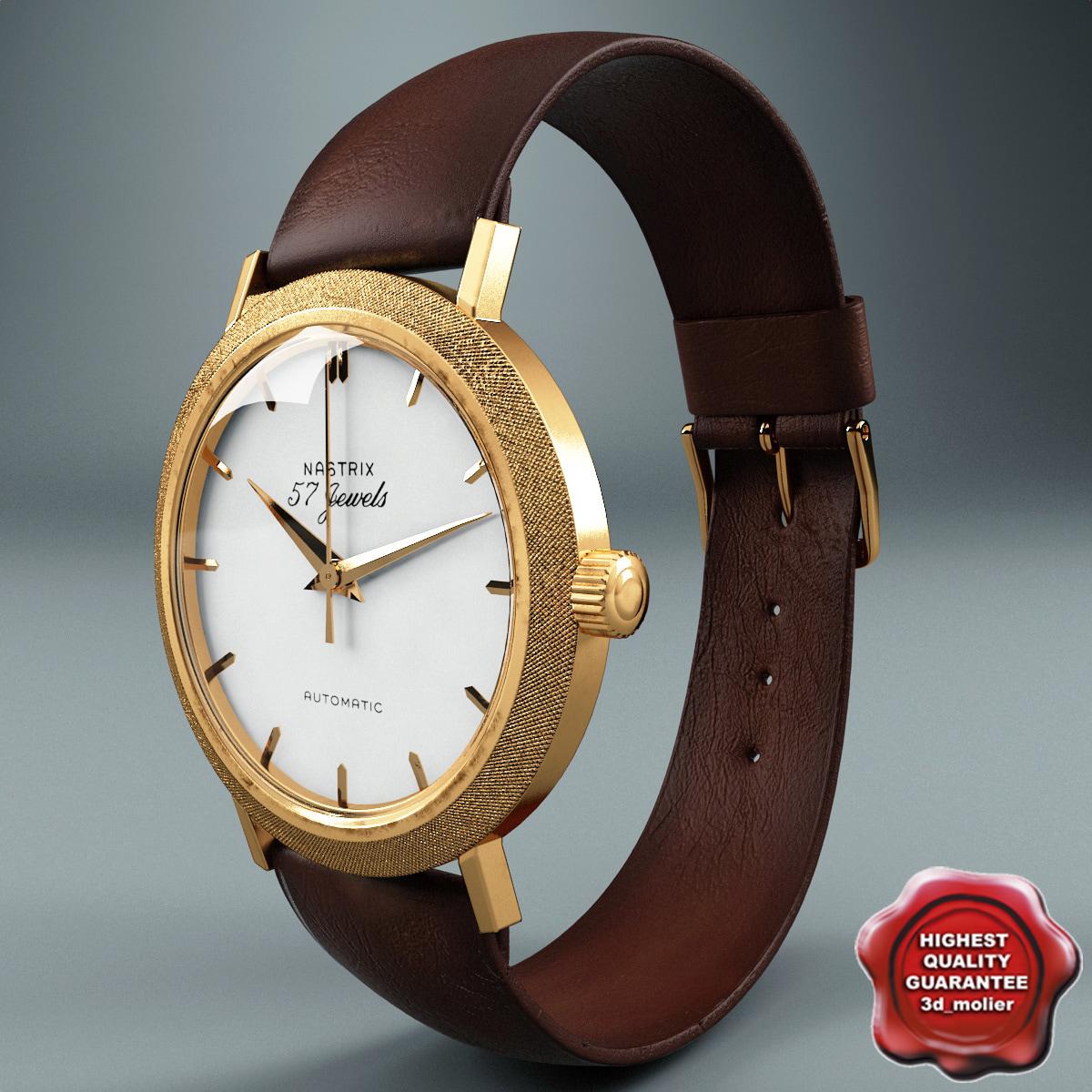 3d john kennedy wristwatch nastrix model