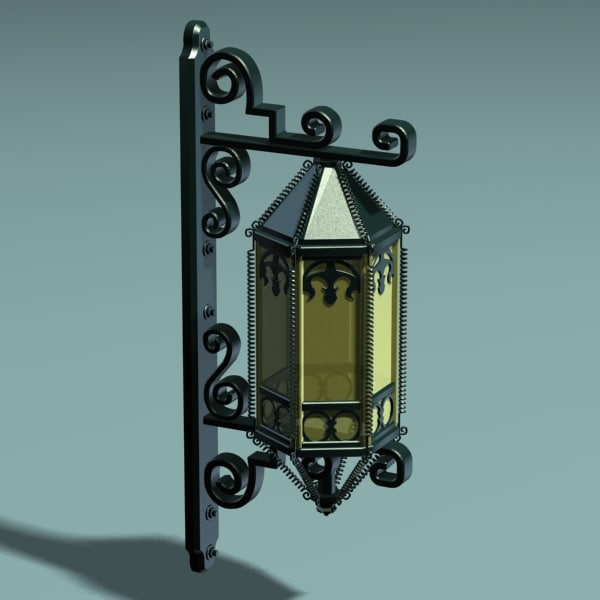 3ds max victorian wall lamp