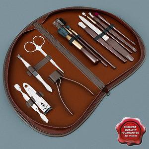 3d model manicure set v4