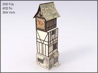 max medieval clock tower