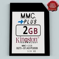 memory card mmc 2 3d model