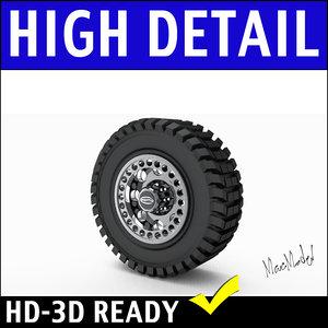 3d tire rim suv model