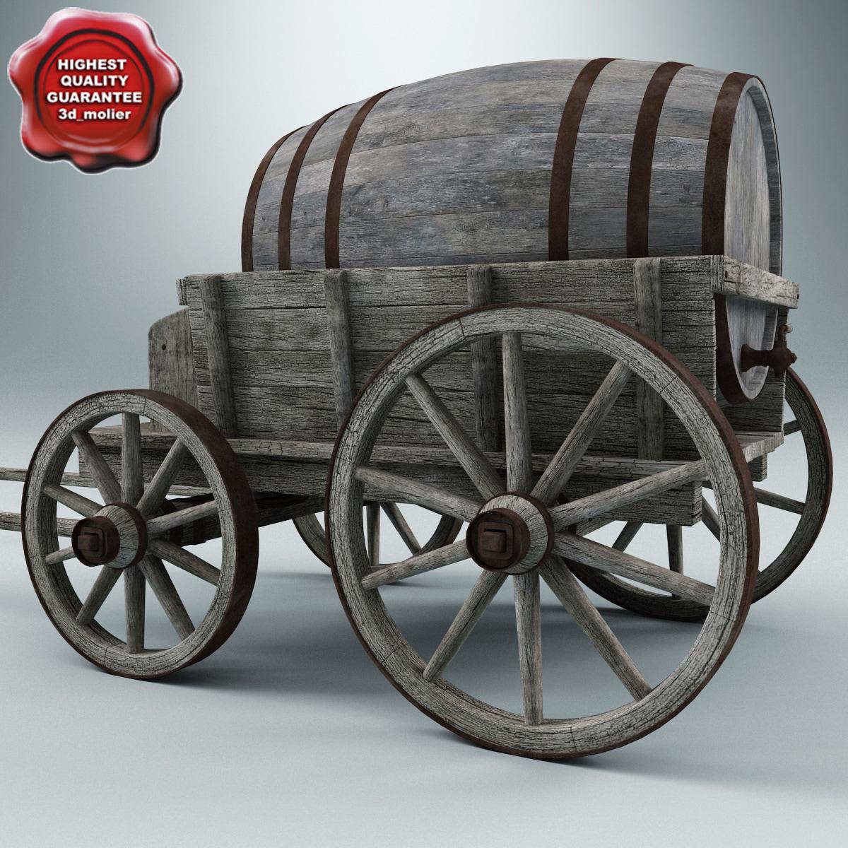 max old wooden cart v3