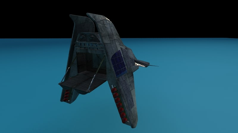 rendered star ship 3d model