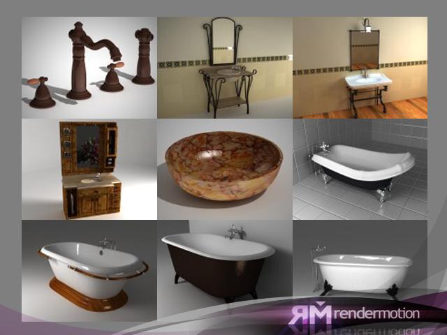 rustic furniture d4 3d max