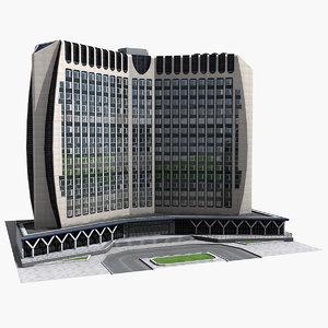 paris building 3d model