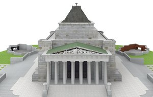 3ds max shrine remembrance melbourne