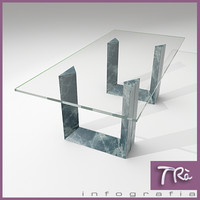 dinning room table diapason 3d model