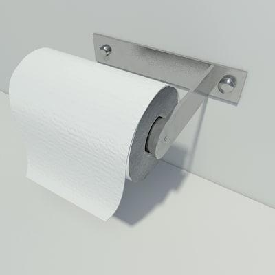 3d model toilet equipment paper
