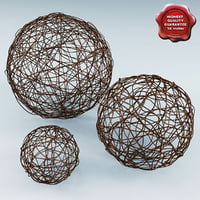 Wicker Core Spheres