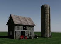 barn tractor hay 3d max