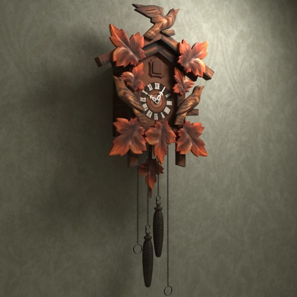 3d model of cuckoo clock