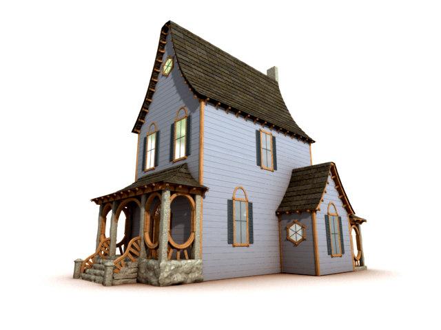 old ornate house 3d model