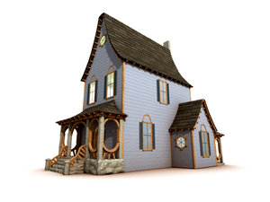 old ornate house 3d model
