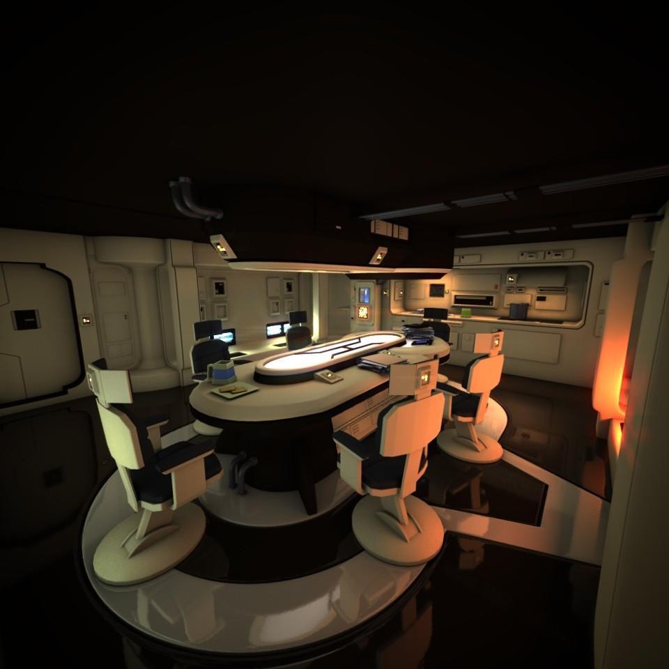 spaceship hd 3d obj