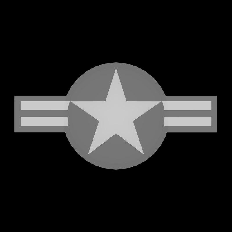 3d model usaf insignia