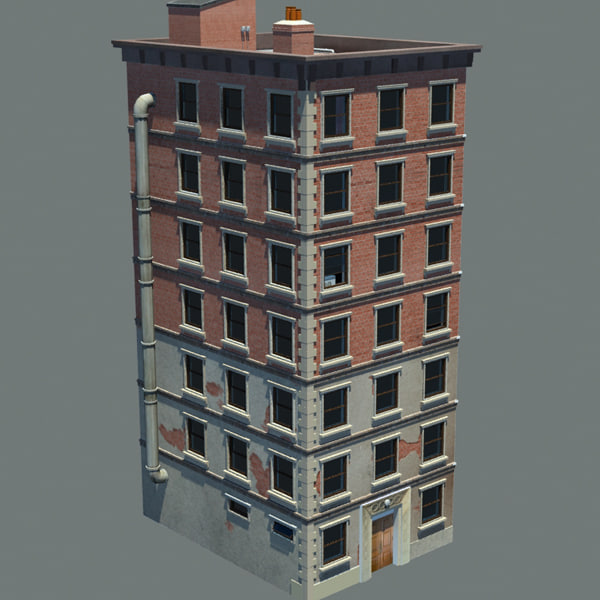 3d apartment building new york model
