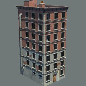 3d apartment building new york model