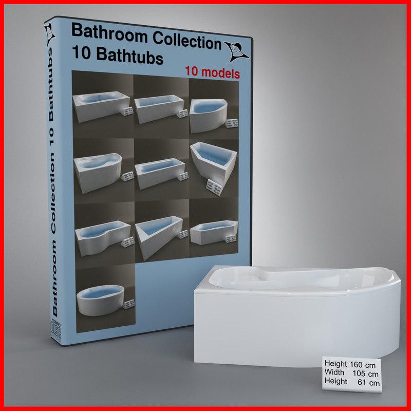3d bath tub model
