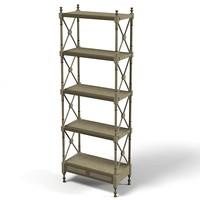 mobili castello etagere 3d model