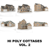 3d hi-poly cottages vol 2
