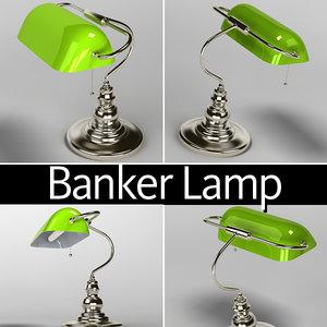 3dsmax lamp bankers lighting