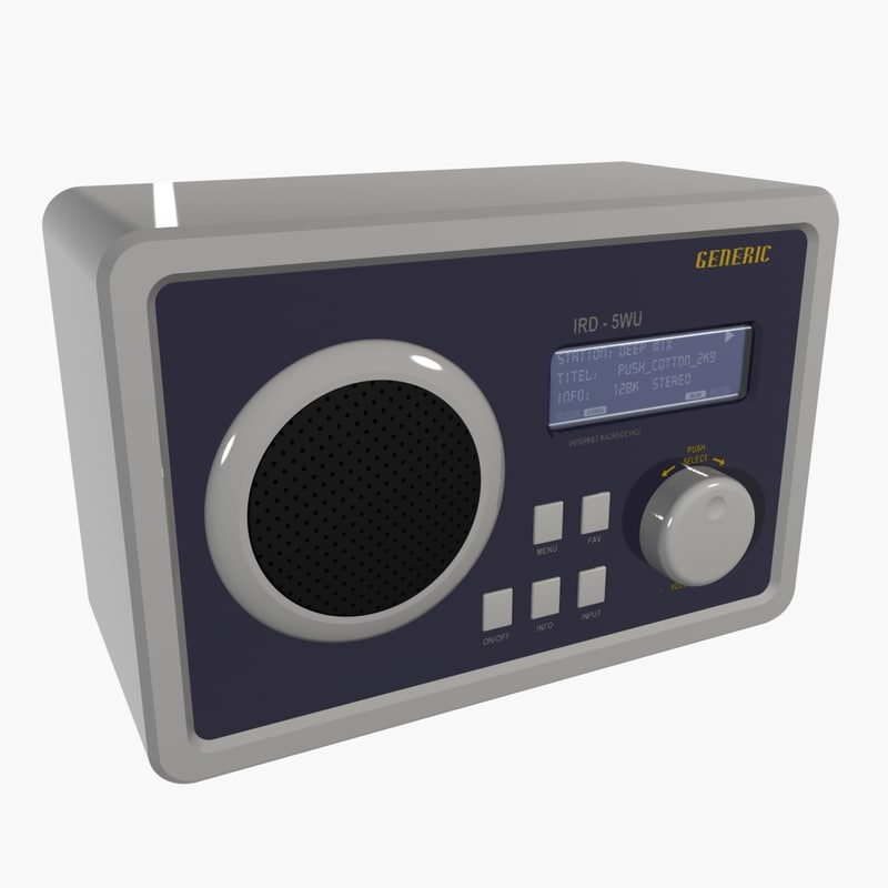 3d model generic internet radio ird-5wu
