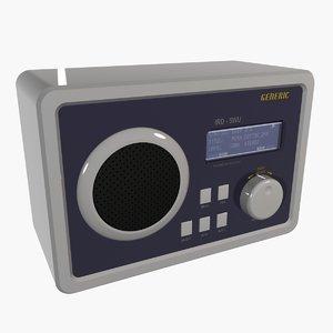 3d model generic internet radio ird-5wu