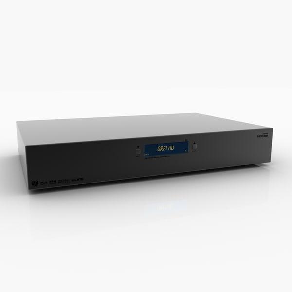 generic dvb-s hdtv 3d model