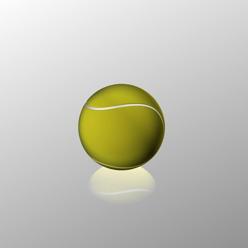 3d tennis ball
